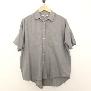 Madewell Boxy Short Sleeve Button Down Shirt